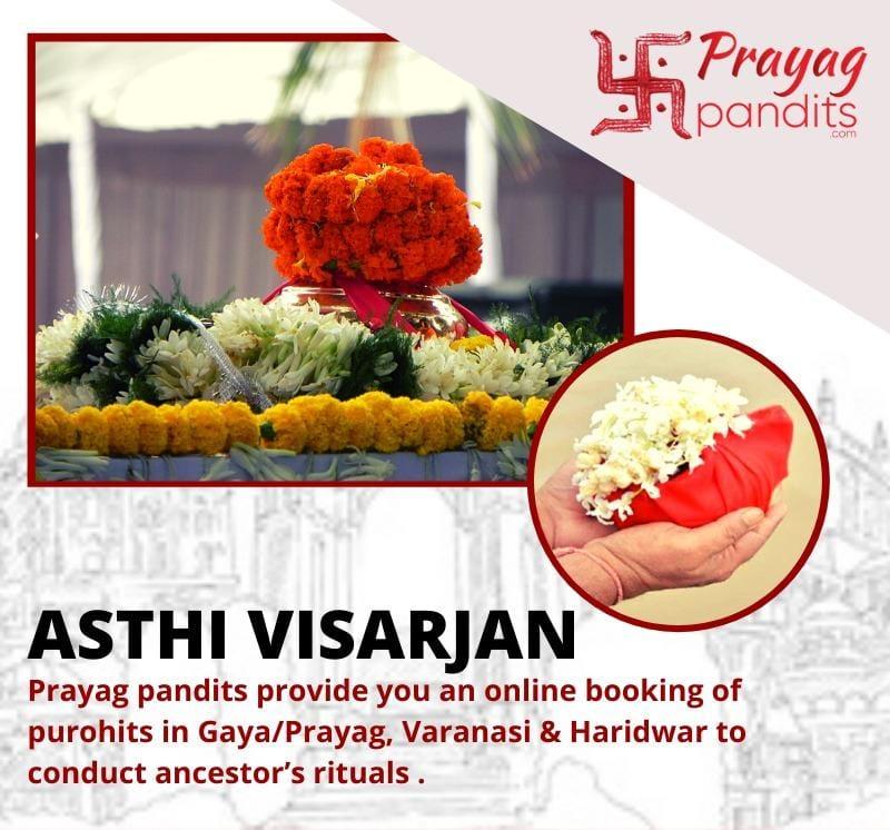 Online service of asthi visarjan via courier and live poojan by Prayag Pandits